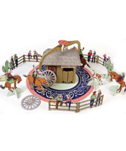 Cowboy tema fødselsdag - centerpiece