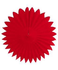Rød papirvifte til fødselsdag