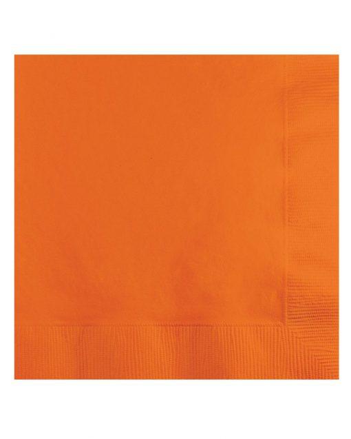 ensfarvede orange servietter