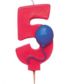 5 tals lys med ballon