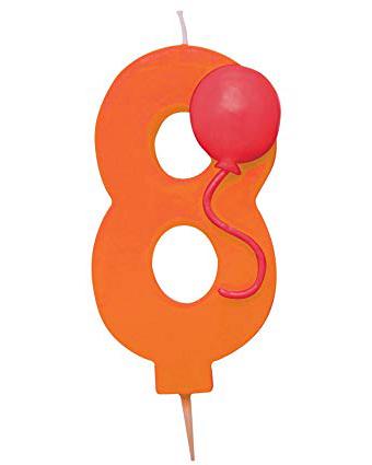 8 tals lys med ballon