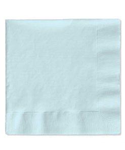 lyseblå servietter til barnedåb stor pakke