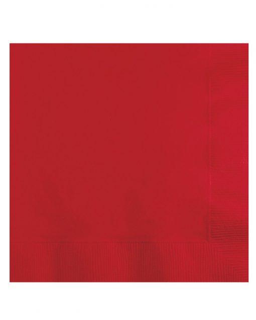 røde servietter ensfarvede
