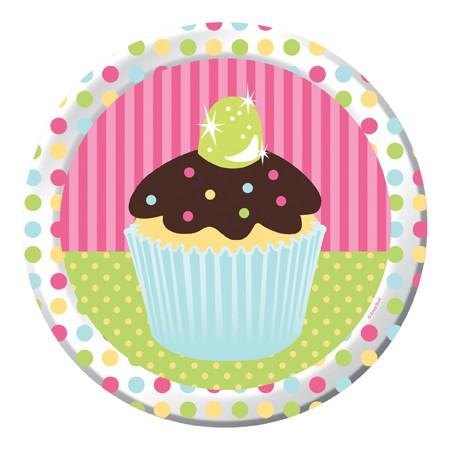 Cupcake tallerken