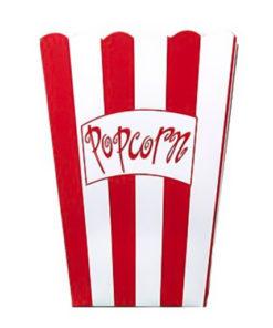 Små stribede popcornbægre