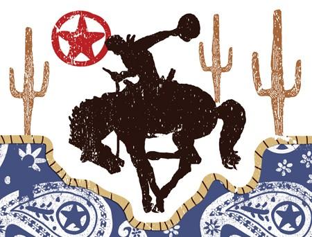 Cowboy invitation - børnefødselsdag
