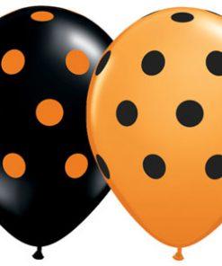 Halloween balloner med polkaprikker
