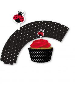 Mariehøne cupcake wrappers-0