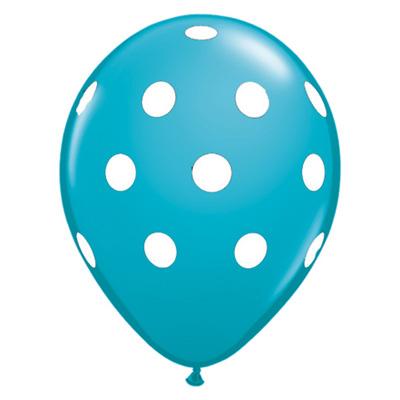 Petroleum - polkaprikket ballon