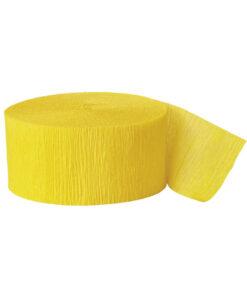 Lyst gult crepebånd