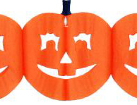 Halloween guirlande - Græskar dekoration / pynt