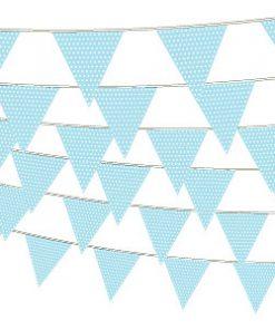 Lyseblå guirlande med prikker-1189