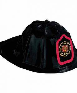 Brandmajorhat af plastik - perfekt til børnefødselsdagen med brandmandstema