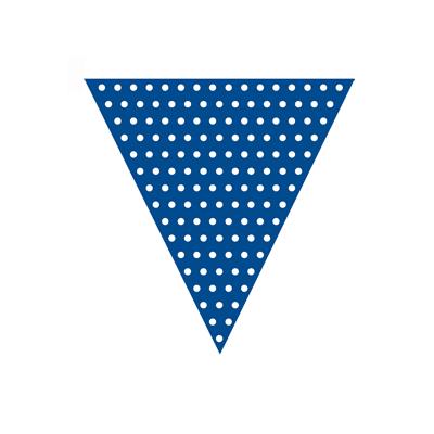 Mørkeblå guirlande med hvide prikker til temafest