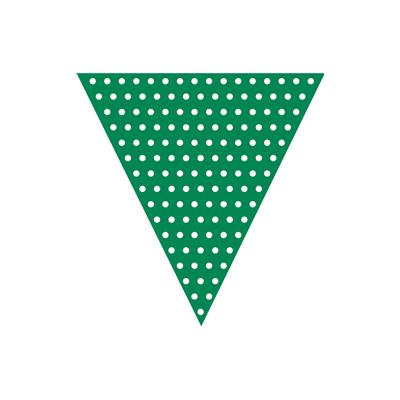 Grøn guirlande med prikker-0