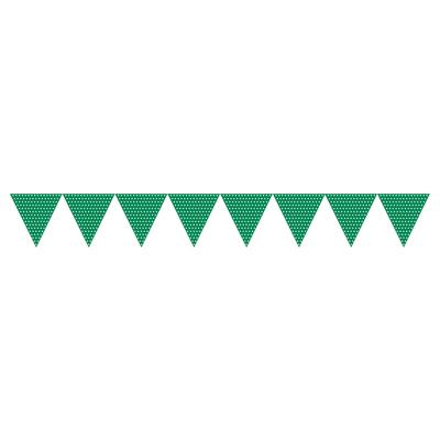 Grøn guirlande med prikker-1184