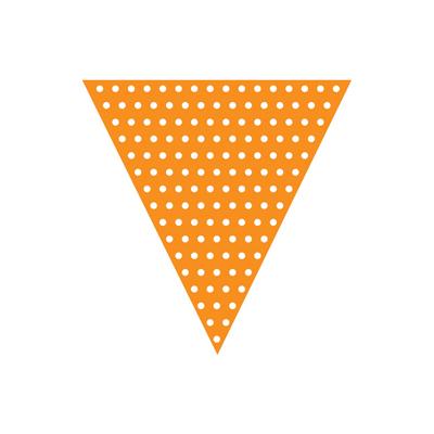 Orange guirlande med prikker-0