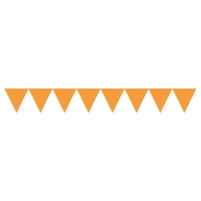Orange guirlande med prikker-1196