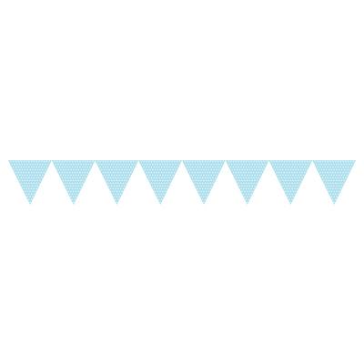 Lyseblå guirlande med prikker-1190
