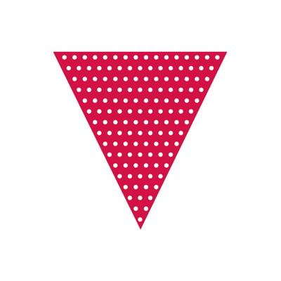 Rød flagranke - fødselsdagspynt og havefest pynt