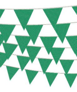 Grøn guirlande med prikker-1185