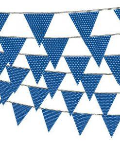 Mørkeblå guirlande med prikker - firmafest pynt og dekoration