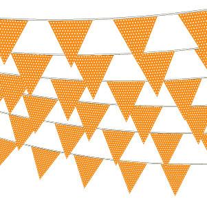 Orange guirlande med prikker-1197