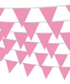 Pink guirlande med prikker-1188
