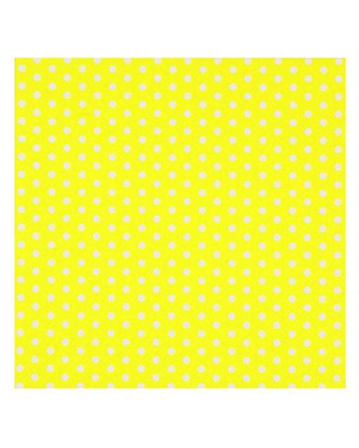 gul polkaprikket serviet