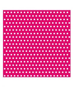 hot pink polkaprikket serviet