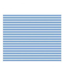 blå stribet papirdug
