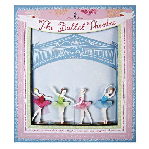 Ballerina dukketeater borddekoration til pige fødselsdag