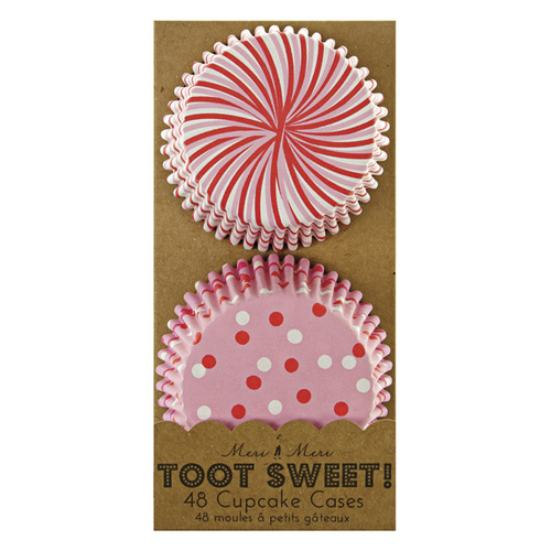 Lyserøde cupcakeforme