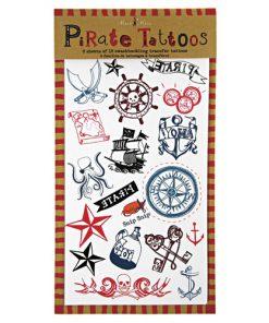 Sørøver og pirat tatoveringer - Perfekt fyld til godteposen - Meri Meri