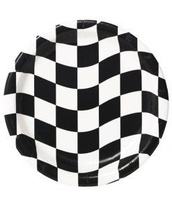 paptallerken med racer mønster