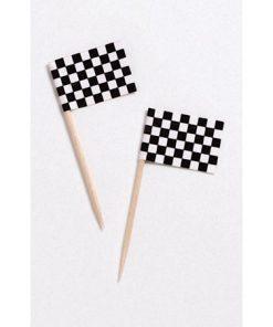 Racerflag - cupcakepynt / lagkageflag