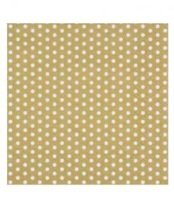 guld serviet med prikker