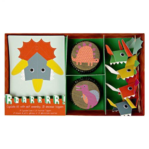 Dinosaur cupcakes og dekorationer - børnefødselsdag