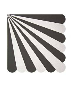 sort stribet serviet