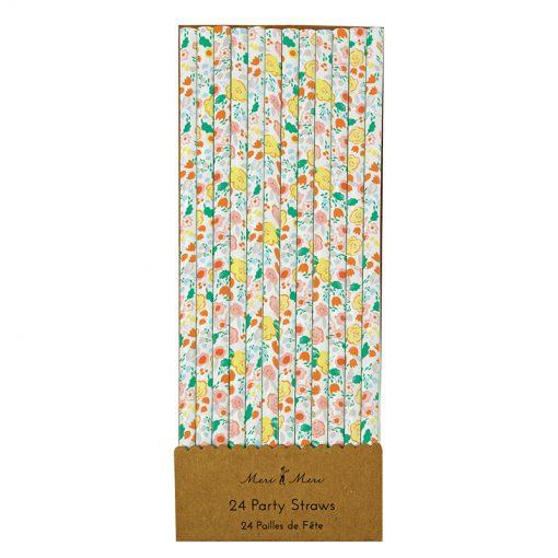 Blomstret papirsugerør fra Meri Meri