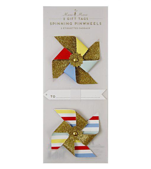 papir vindmøller - gavemærker fra Meri Meri