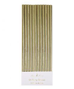 Guld metallic retrosugerør fra Meri Meri