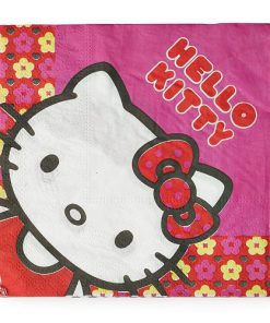 Hello Kitty blomster serviet