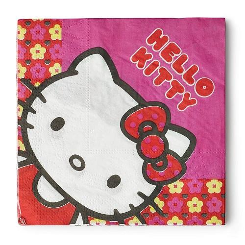 Hello Kitty blomster serviet