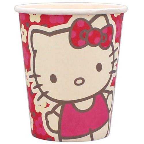 Hello Kitty krus med blomster - papkrus