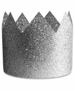 sølv glitter prinsessekroner