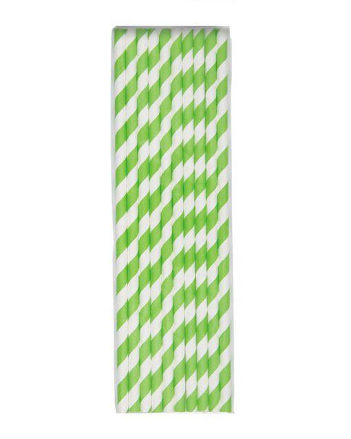 stribede grønne sugerør
