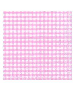 lyserød ternet serviet gingham
