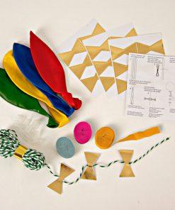 blå, grøn, gul og røde ballon kit fra Meri meri