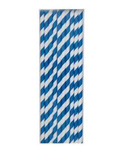 mørkeblå stribede papirsugerør